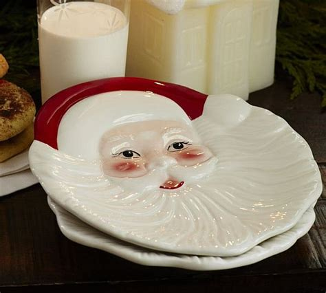 Santa Claus Dessert Plates for Christmas Table