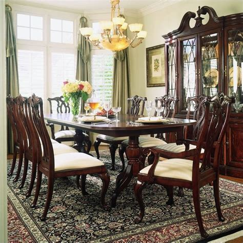 american drew cherry grove  piece dining set  antique