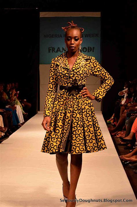 nigeria fashion week runway  pictures frank osodi