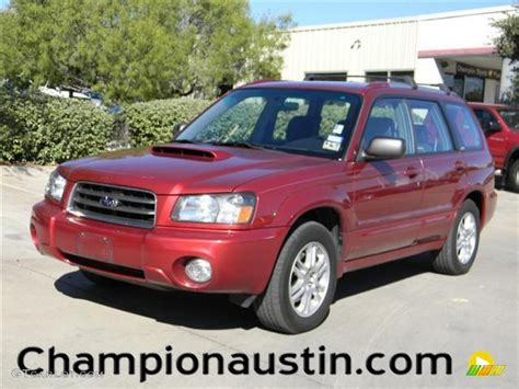 red subaru forester 2004 cayenne red pearl subaru forester 2 5 xt 57539503