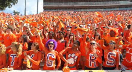 Clemson Mba Ranking by Study Clemson Has Best Fans In Acc Abc Columbia