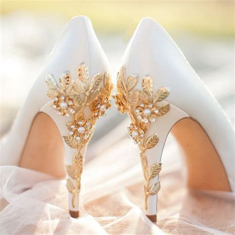 White And Gold Wedding Shoes by 32 Floral Wedding Shoes Ideas For And Summer