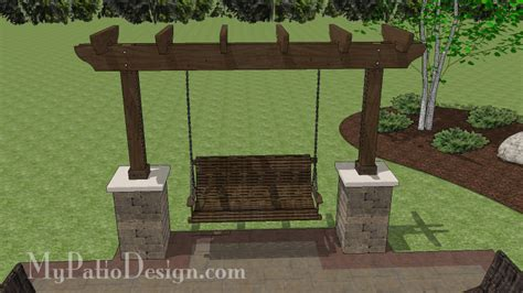 Bench For Porch 5 Patio Swing With Columns Design Downloadable Plan