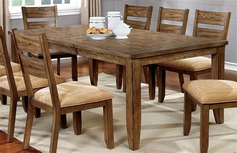 Light Oak Dining Room Set Light Oak Dining Room Set Cm3287t Furniture Of America
