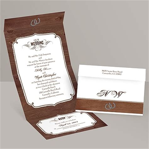 rustic send and seal wedding invitations rustic wedding seal and send invitation