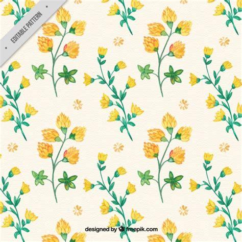 flower pattern freepik hand drawn yellow flowers pattern vector free download