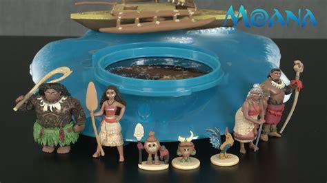 moana playset with boat disney moana projection boat playset from the disney store