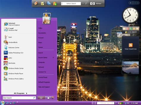 live themes windows 7 purple live windows blind theme