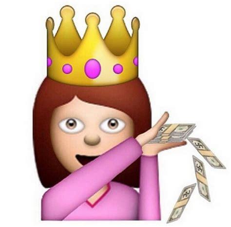 Emoji Queen | quot emoji queen make it rain quot stickers by meganbxiley redbubble