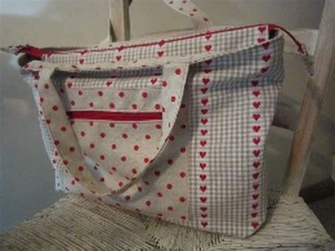 sewing pattern tote bag lined a zippered lined tote bag for you to sew by debbie shore