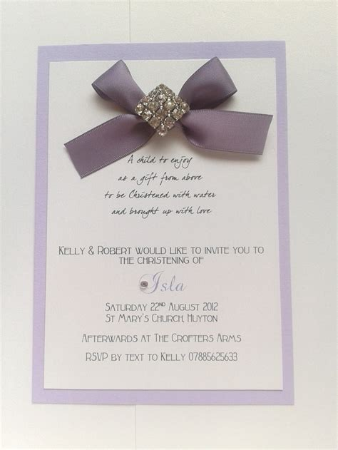Handmade Baptism Cards - handmade christening invitations christening 2