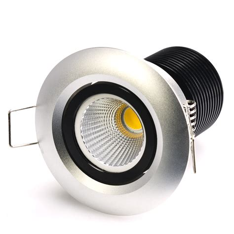Led Recessed Light Fixtures 8 Watt Cob Led Aimable Recessed Light Fixture Bridgelux Cob Recessed Led Lighting Led