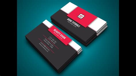 design grafis business card how to design business card in adobe illustrator cc youtube