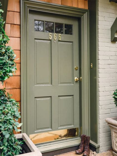 Curb Appeal Ideas Page 03 Outdoors Home Garden Olive Green Front Door