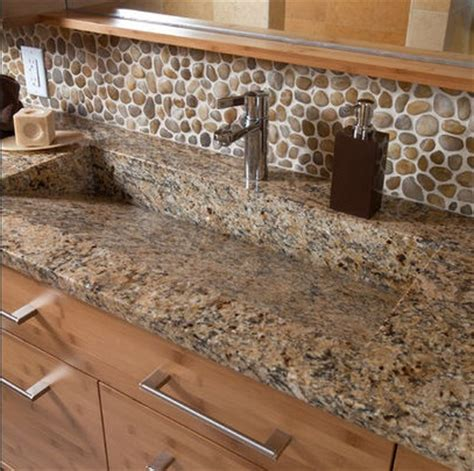 river stones bathroom backsplash home interiors