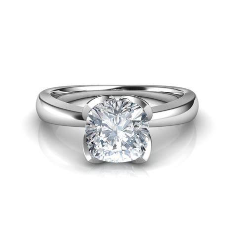 cusion cut diamond ring petal design cushion cut solitaire diamond engagement ring