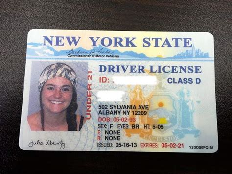 ny state id card template make new york drivers license