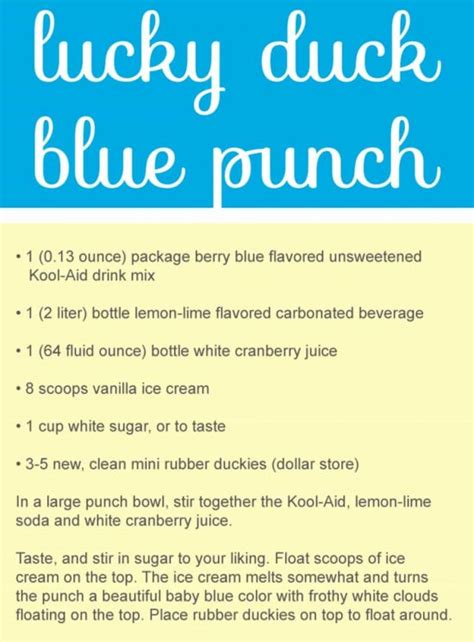 Rubber Ducky Baby Shower Punch by Rubber Duck Baby Shower Punch Recipe Tutorial