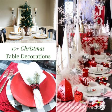 thrifty christmas table decorations psoriasisguru com