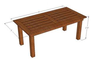 Build Patio Table Build Wood Outdoor Table Woodworking Projects