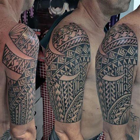 Sleeve Grey Half Tribal 103 great half sleeve tribal designs made on half