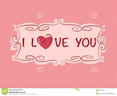 Romantic Gift Cards - romantic gift card with heart and love text in vintage style stock vector image