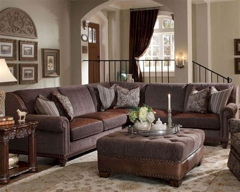 living room sectional furniture sets aico sectional living room set monte carlo ii ai 53912 brown 46s