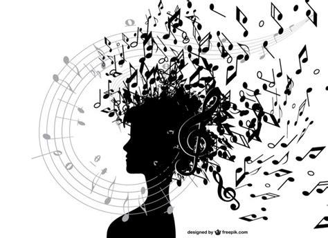 imagenes vectoriales musicales chica con notas musicales descargar vectores gratis