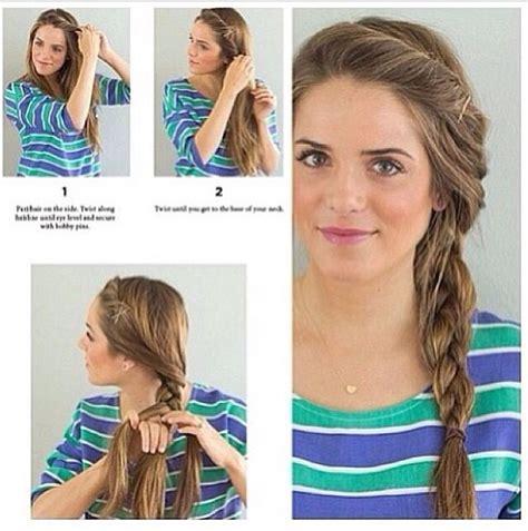 School Hairstyle And Simple by Simple Side Braid Hair My Hair