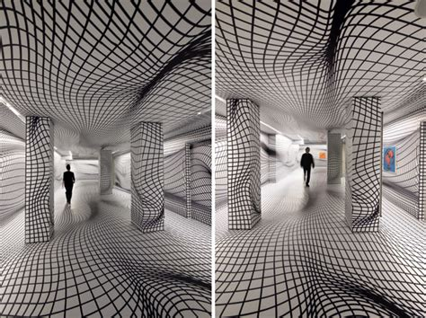 optical pattern photography peter kogler spatial illusion collabcubed