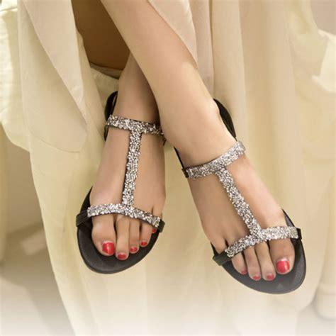 Sandal Fashion Korea 288 new fashion korean flat shoes sparkling sandal ebay