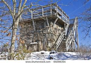 The old stone tower on top of brasstown bald in north georgia a
