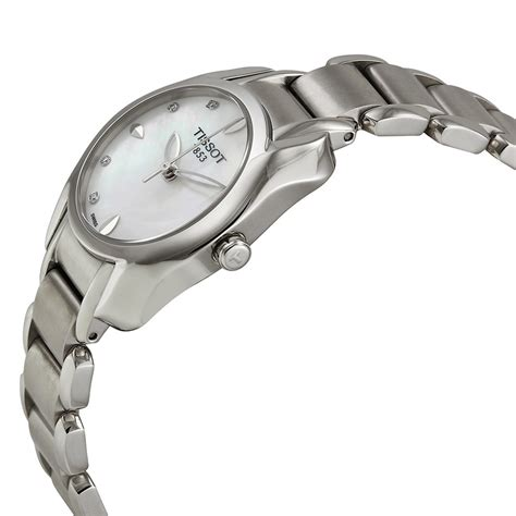 Tissot T Wave Of Pearl Two Tone Stainless Steel T02 2 285 Tissot Trend T Wave Of Pearl Stainless Steel