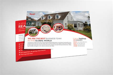 custimazable templates for post cards real estate realtor postcard template 18 free psd vector eps ai