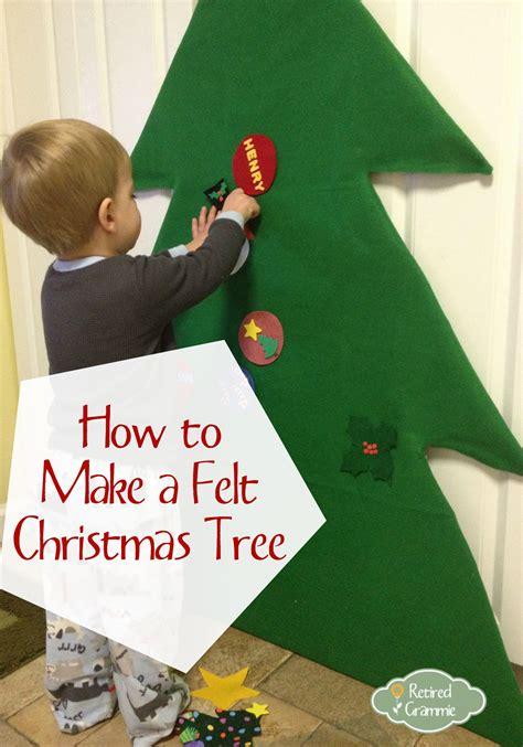 easy felt christmas tree fun so the kids won t play with