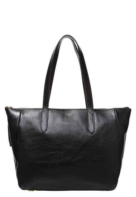 Fossil Sidney Shopper Black fossil tote bags sydney bag black fossil bags