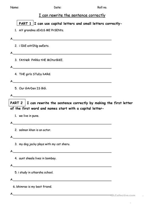 Grammar And Punctuation Worksheets by 84 Free Esl Punctuation Worksheets