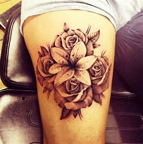 oriental lily tattoo image result for red rose and pink oriental lily tattoo