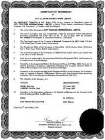 free printable certificate of incumbency form generic