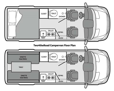 conversion van floor plans two4theroad cervan dodge sprinter cervan rental