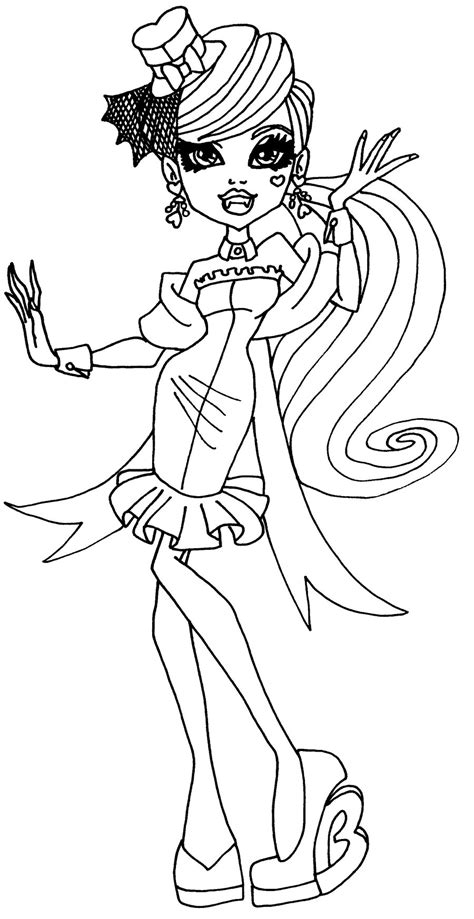 monster high coloring pages by elfkena on deviantart draculaura bw by elfkena on deviantart