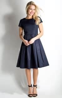 winter frolic modest dress in peacoat blue