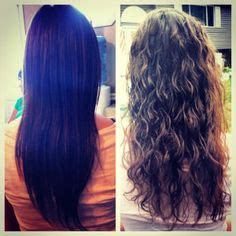 before and after photos of permant waves with frizzy hair anyone know anything about beach wave or loose curls perms