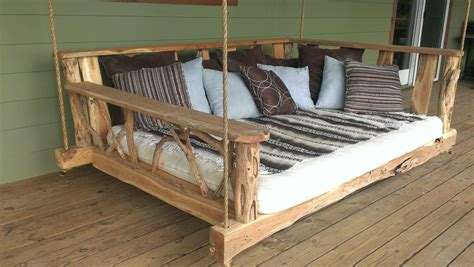 bed swing porch porch swing bed plans