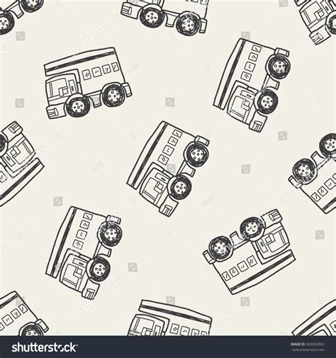 doodle car doodle travel car seamless pattern background stock vector
