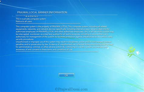 Windows 7 Security Templates by How To Configure Notices On Domain Computers Using