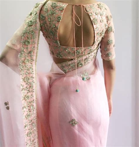 Lace Blouse Pink White Yellow 31397 17 best ideas about pink saree on india