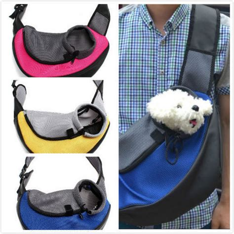 carrying puppy pet carrier carrying cat puppy small animal sling front carrier mesh comfort