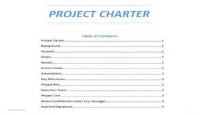 project charter templates project charter word template
