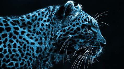 wallpaper printing blue cheetah wallpaper 30978